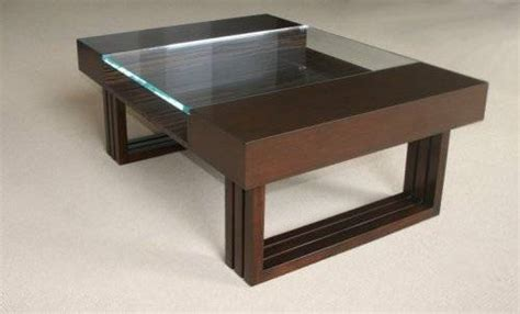 wooden coffee table designs with glass top the interior
