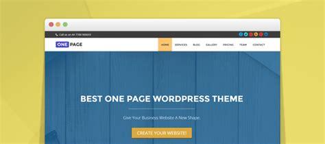tutorial one page website wordpress create website with one page wordpress theme tutorial