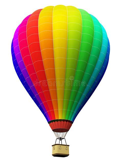 speelgoed luchtballon de hete die luchtballon van de kleurenregenboog op witte