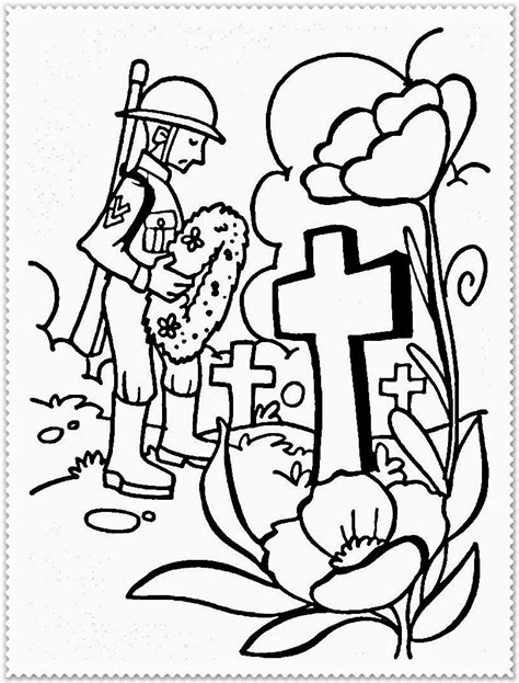 remembrance day poppy coloring page az coloring pages