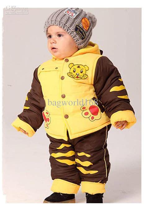 2018 kids winter clothes suits infant clothing children baby boys korean tiger suits coat jacket