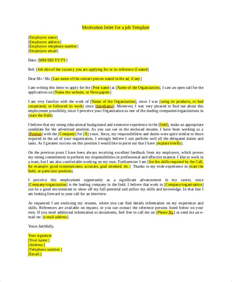 7 Job Application Sel In Word Pdf Sle Templates Motivational Email Template