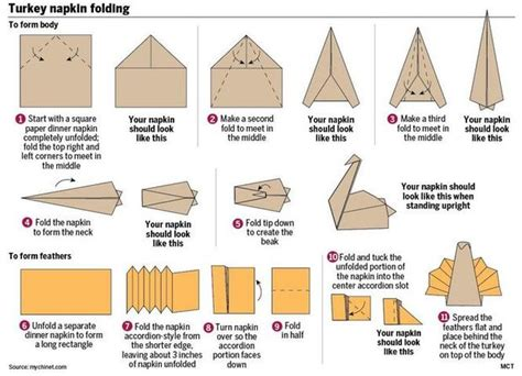Cool Paper Folding Tricks - cool napkin folding trick helps dress up your thanksgiving