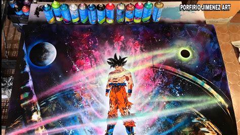 spray paint goku goku ultra instinct spray paint stencil