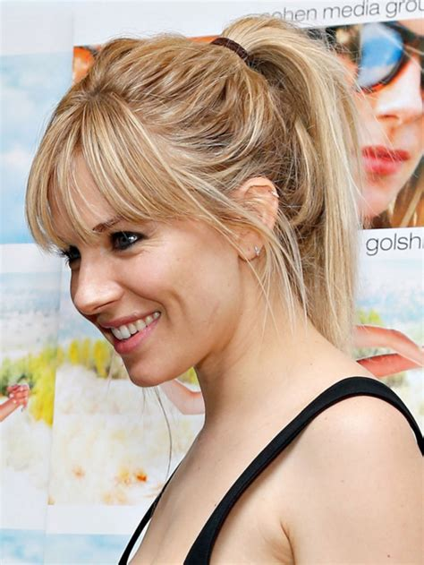 front puff pony 20 messy ponytail haircut ideas designs hairstyles