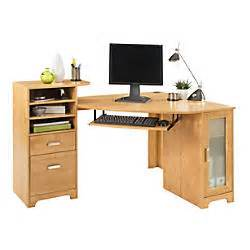 Corner Desk Office Depot Bradford Corner Desk Oak By Office Depot Officemax