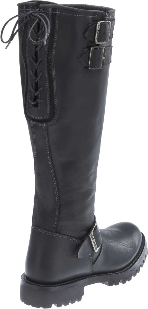 engineer style motorcycle boots harley davidson women s 16 inch classic engineer black