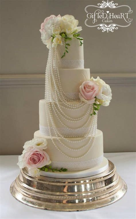 Southern Blue Celebrations: White Wedding Cakes   Cakes
