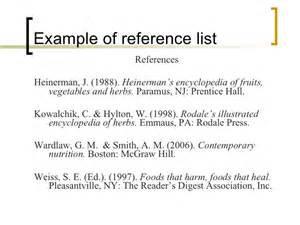 Reference List Template Apa Apa Citation Style