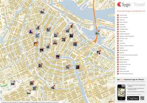 tourist attractions map amsterdam printable tourist map sygic travel