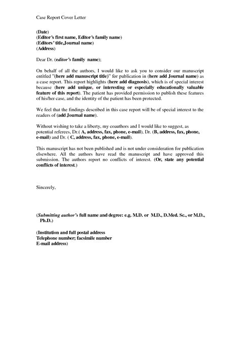 Report Letter Writing Report Cover Letter Exle The Best Letter Sle