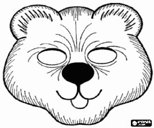 bear mask coloring page animal masks coloring pages printable games 2