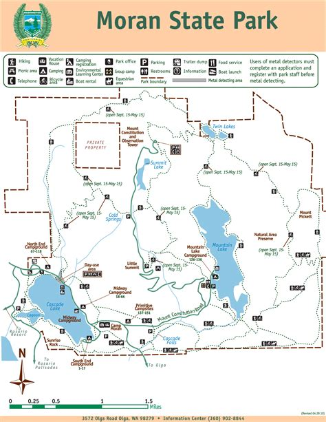 state parks map park map state park