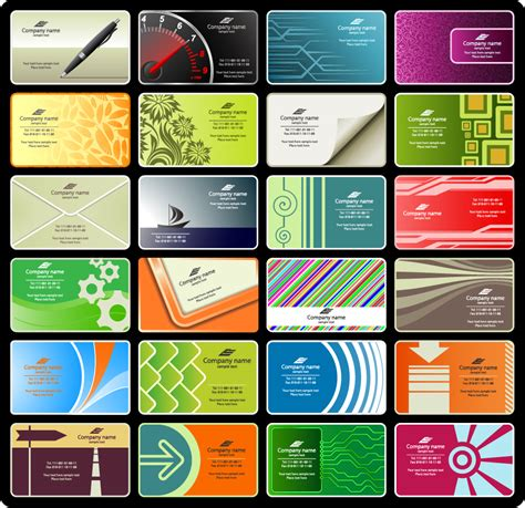 Business Card Templates Free Vector by Free Vector がらくた素材庫 目を惹く名刺テンプレート Free Vector Business