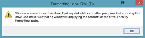 cannot format hard drive quit any disk utilities windows cannot format this drive quit any disk utilities