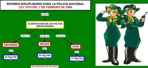 ley del regimen disciplinario de la policia nacional del ley 1015