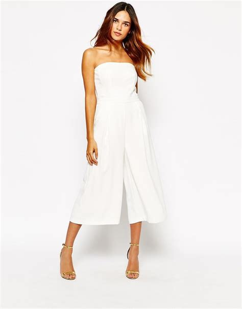Overall Cullote warehouse bandeau tailored culotte jumpsuit fashion