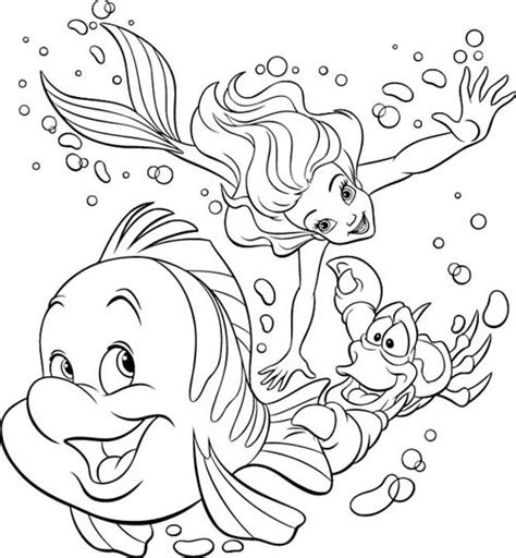 coloring sirenetta mermaid