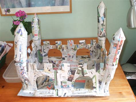How To Make A Paper Mache Castle - franzeska g ewart s castle hamster mk 2 is built