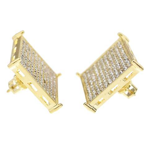Square Earrings square gold 20mm earrings earrings