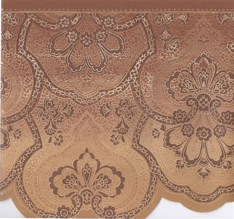 gold wallpaper trim interior place brown gold beige traditional wallpaper