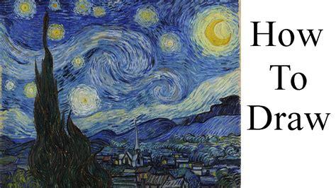 how to draw starry night step by step art pop culture how to draw starry night youtube
