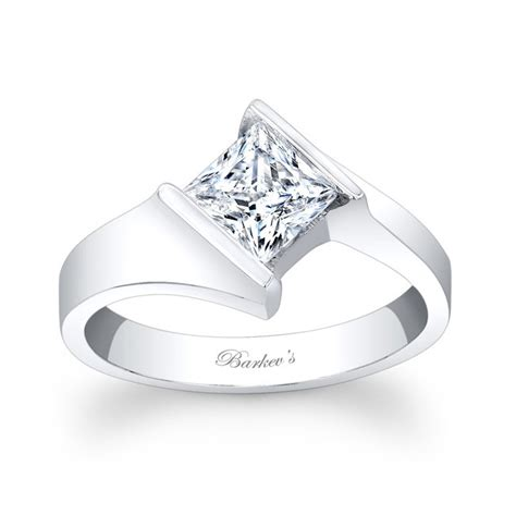barkev s princess cut solitaire ring 7824l
