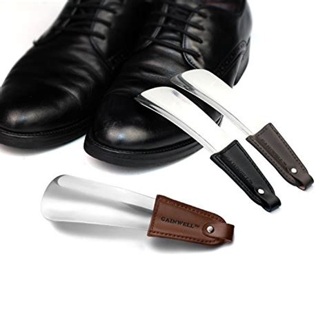 Shoe Care Shoe Accessories Shoe Horn shoe horn stainless steel shoe horn with leather import it all