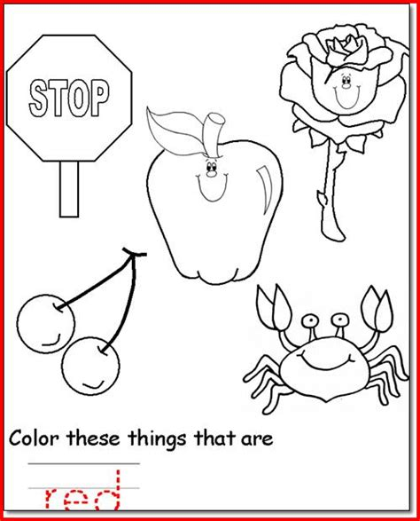 color red activities for toddlers pictures to pin on