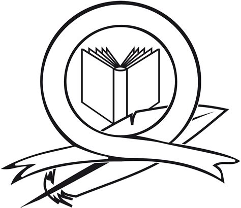 college seal template free vector graphic book logo ribbon feather free