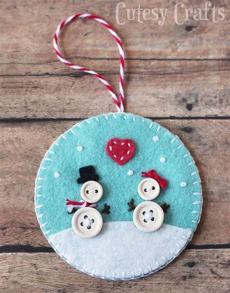felt decorations button and felt diy ornaments cutesy crafts