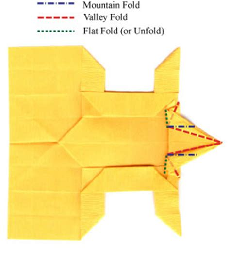 Origami Tiger Diagram - how to make a standing origami tiger page 18