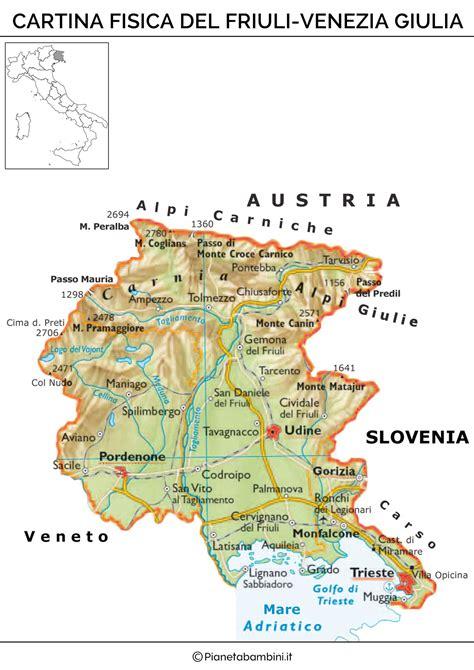 friuli venezia giulia cartina friuli venezia giulia siteredevelopment
