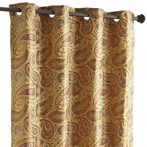 paisley curtains window treatments gold 96 quot shao paisley curtain window treatments