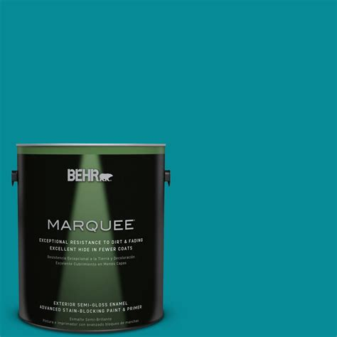 behr premium plus 1 gal 510b 7 empress teal semi gloss