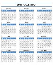 one page 2015 calendar template 2015 calendar templates microsoft and open office templates