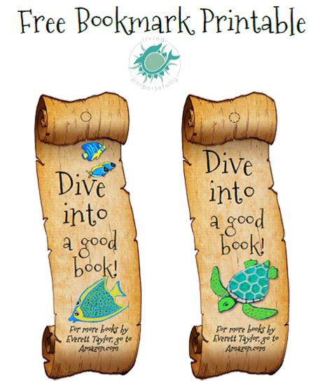 printable ocean bookmarks undersea bookmark printable freebie living porpoisefully