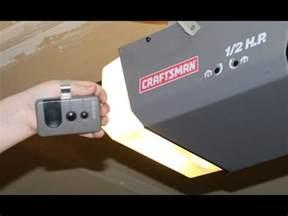 how to program craftsman garage door opener remote diy 1 2