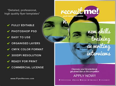 recruitment flyer template creative recruitment flyer template flyerheroes