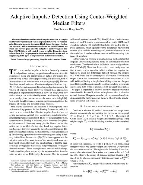 Ieee Signal Processing Letters