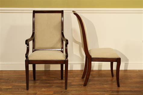 Transitional Upholstered Mahogany Dining Room Chairs Transitional Dining Room Furniture