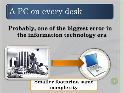 A Computer On Every Desk And In Every Home A Pc On Every Desk A Big Mistake