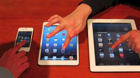 iPhone 4S vs iPad mini vs iPad 3.mov   YouTube