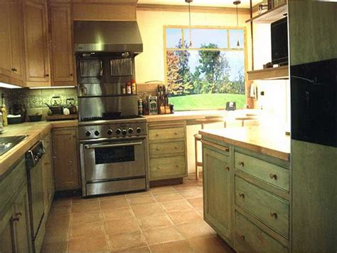 Green Kitchen Cabinet Stained Oak Kitchen Cabinets