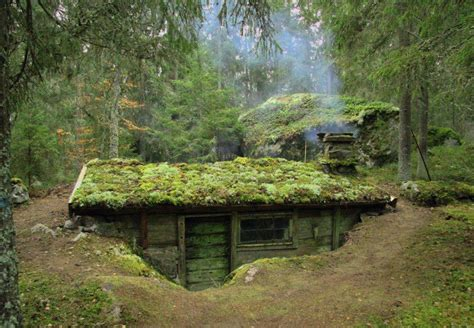 underground tiny house mossy semi underground house earthship pinterest