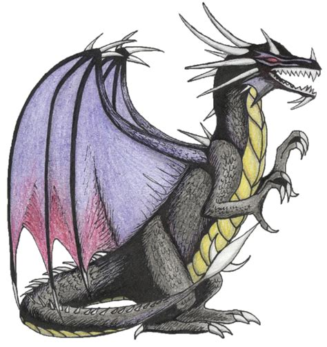 black dragon flying