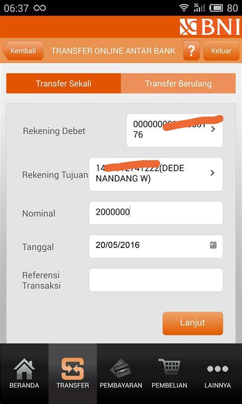 format sms banking antar bank bni cara transfer antar bank online melalui bni mobile banking