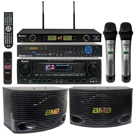 Kit Karaoke Multi Media Active Speaker Plus Subwoofer Bx6000 1 acesonic bdk 2000 multi format player with am 148 320w lifier bmb csn 500 speakers