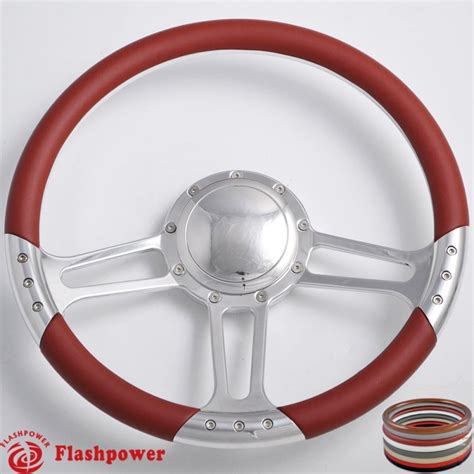 boat steering wheel with horn trinity 14 quot polished billet steering wheel with half wrap