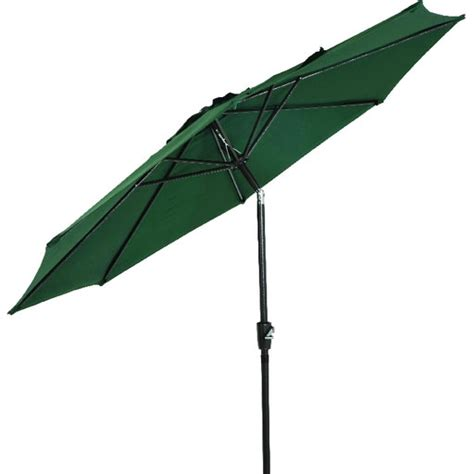 Patio Umbrella Crank Parts 9 Aluminum Tilt Crank Umbrella Green Canopy